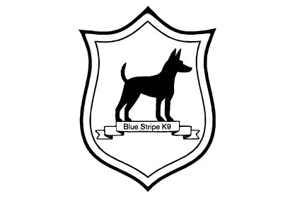 blue stripe k9 logo